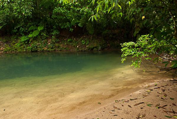 Aquário, piscina natural no Rio Morato.
