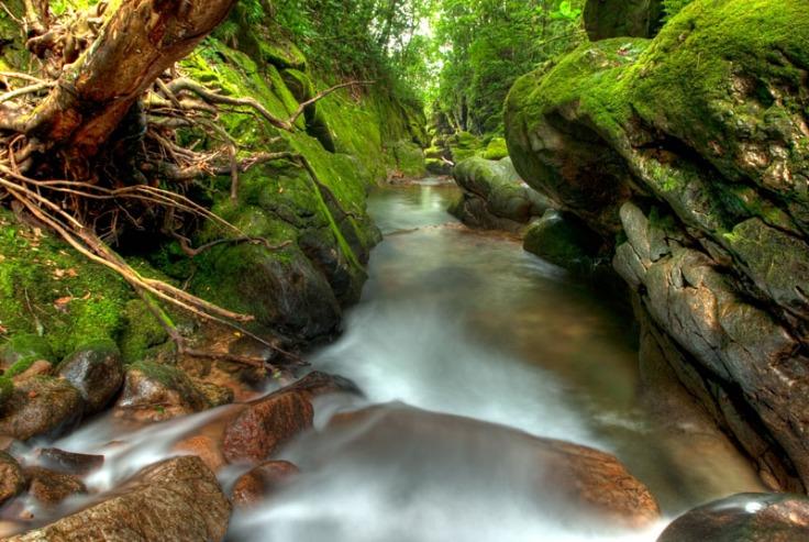 Cachoeira no alto do Rio Morato