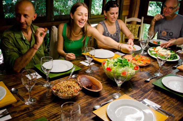 Almoço no restaurante Bêrga Motta durante o workshop de 2012. Foto de Eliane Heuser.