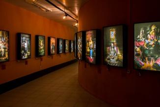 Exposição Iluminados - Personagens da Ilha de Santa Catarina - no hall do auditório Campus da Univali - Florianopolis.