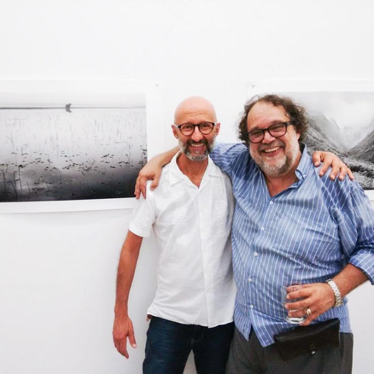 Zé Paiva e Fernando Bueno na vernissage.
