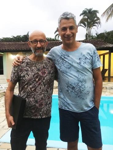 Eu e Éder Chiodetto depois do seu workshop de curadoria.