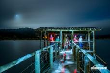 Lightpainting no lago do hotel.