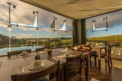Cambara Eco Hotel, vista do salão de café da manhã.