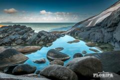 Piscina natural formada pela maré na Ponta do Gravatá