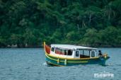 Barco na Costa da Lagoa da Conceição
