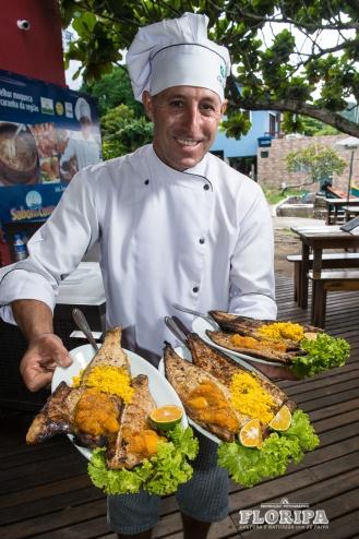 Chef Jajá na Costa da Lagoa.