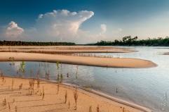 Praia no Rio do Coco, Parque Estadual do Cantão.