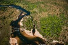 Vista aérea do Rio Novo, Parque Estadual do Jalapão.