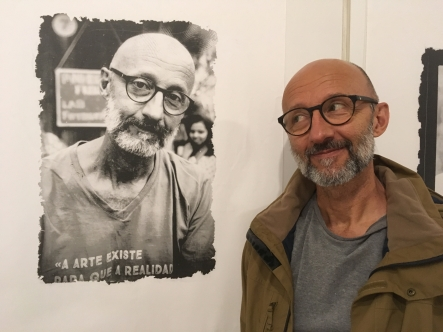 Exposição Floripa em 3x4 - o retrato de quem passa, do amigo Radilson Carlos Gomes.