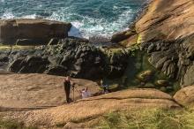 O força do oceano na Ponta do Gravatá, foto de Beatriz Donelli.