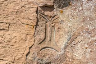 Inscrições rupestres, Urubici, Santa Catarina - foto de Ze Paiva - Vista Imagens