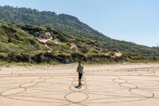Desenhos enigmáticos na Praia da Galheta, Florianopolis, Santa Catarina - foto de Ze Paiva - Vista Imagens