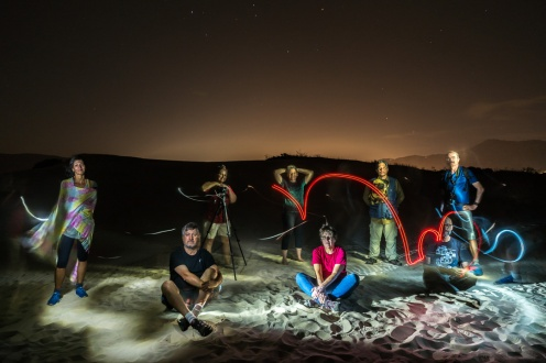 Lightpainting na dunas da Lagoa da Conceição, Ze Paiva - Vista Imagens