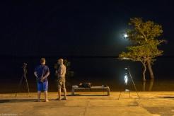 Lua cheia na Lagoa da Confusão (foto de Edilaine Barros)