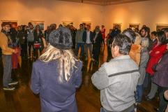 """Zé Paiva apresentando o """"Somsilêncio da Imagem"""" ao público."""
