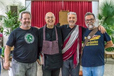 Francisco Milanez (AGAPAN), Monge Seikaku (Zen Maytréia), Lama Padma Samten (CEBB) e Fernando Leão (ICM).
